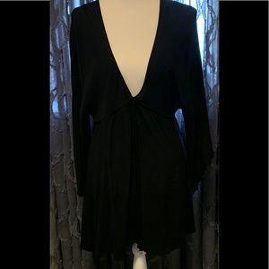Elan Black V-neck Dress MEDIUM
